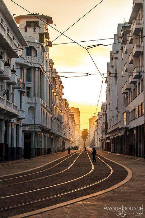 The Beautiful white city of Casablanca