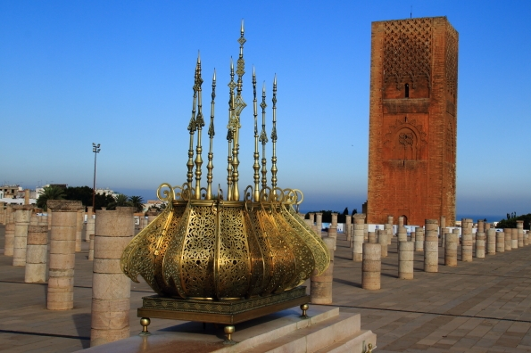 The mosque and Hassan's tower